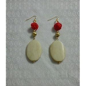 Knickknack Vintage Red Rose Earrings