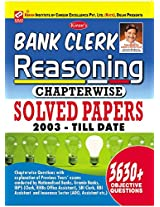 Bank Clerk Reasoning Chapterwise Solved Papers 2003 - Till Date