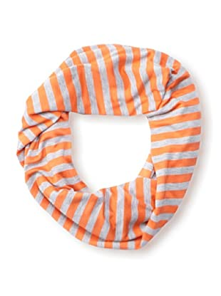 Raj Imports Women's Striped Infinity Scarf (Grey/Orange)