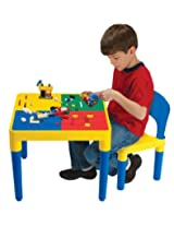 Kids Only Block Builders Construction Table with 1 Chair and 100 Building Blocks