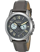 Fossil Grant Chronograph Gunmetal Dial Men's Watch - FS5183