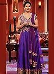 Madhuri Dixit Purple Anarkali Suit