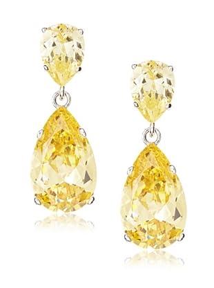 CZ By Kenneth Jay Lane Double Pear Shaped Earrings