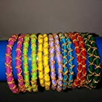 Hunar, multicolor bangles, set of 14, size 2.10