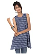 Rajrang Women Cotton Tunic -Blue -Small