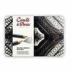 Conté à Paris Drawing Set of 12 Assorted - Tin Box