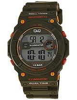 Q&Q Regular Digital Green Dial Men's Watch - M140J003Y