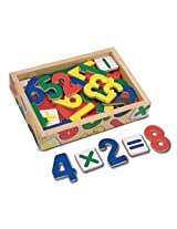 Melissa & Doug 449 Magnetic Wooden Numbers