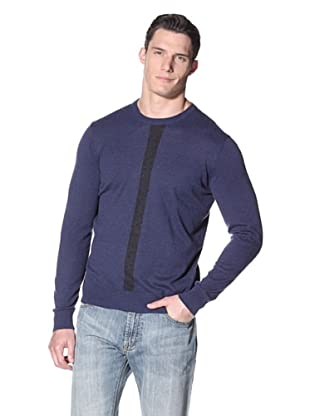 Cullen Men's Colorblock Crew (Academy/Charcoal)