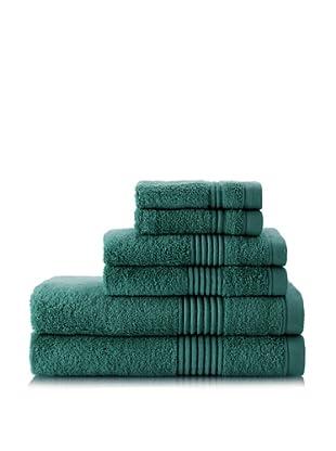 Chortex Ultimate 6-Piece Towel Set, Deep Green