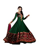 Livaaz Womens Georgette Anarkali Dress Material (Sf100894 _Green _Free Size)