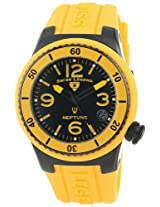 Swiss Legend Watches, Women's Neptune (40 mm) Black Dial Yellow Silicone, Model 11840P-BB-01-YL