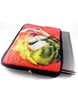 Devarshy Digital Print 17 Inch Computer Quilted Limited Edition Laptop Protector - Yellow Hair Girl