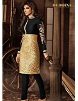 Divyaemporio Womens Faux Georgette Resham Salwar Suit Dress Material (De-5473 _Black _Free Size)