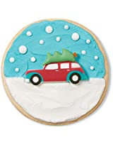 Wilton 710-3466 12 Count Car with Christmas Tree Royal Icing Decorations