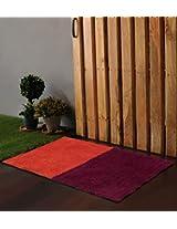 "Po Box Colour Blocks Fushia & Orange Bath Rug 24""x16"""