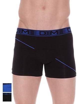 DIM Pack X 2 Bóxer 3D Flex (Negro / Azul)