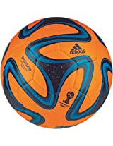 adidas Brazuca Glider Football, Size 5 (Orange)