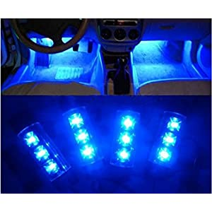 Branded Blue LED Flash Tyre Wheel Valve Cap Light (12V, 3W, 2 Bulb)