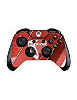Sports Teams And Stars Pair Of Vinyl Decal Controller Sticker Skins For Xbox One (Football Club White And Red And White)
