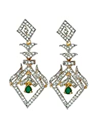 Karp Gold Plated American Diamond Earrings 1st Copy Of Real Diamond Jewelry - Style 8