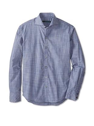 Zachary Prell Men's Young Long Sleeve Shirt (Blue)