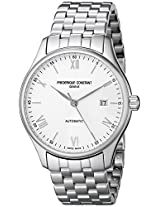 Frederique Constant Men's FC303WN5B6B Index Analog-Display Swiss Automatic Silver-Tone Watch