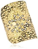Paige Novick Classics Textured Pave Detail Gold Ring, Size 7