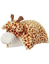 Dimpy Stuff Giraffe Foldable Cushion, Orange/Yellow (45 x 40cm)