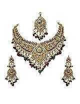 Aaliya: Kundan & Polki with enamel with Danglers & Hanging Earring Fashion Jewellery Set