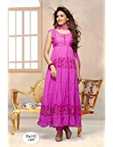 Fabboom The New Disignar Lavender Long Anarkali Suit