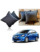 Car Vastra Cushion Set Black Color For Car & Home - Honda Amaze - Set of 2Pcs