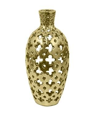 Three Hands Clover Cutout Ceramic Vase