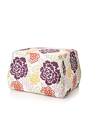 Image By Charlie Summertime Ottoman, White/Multi