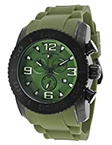 Commander Chronograph Black Steel Case Green Silicone (10067-Bb-017)