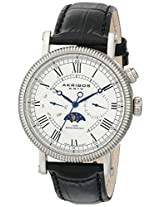 Akribos XXIV Men's AK610SS Ultimate Multi-Function Stainless Steel Watch with Croco-Embossed Leather Strap