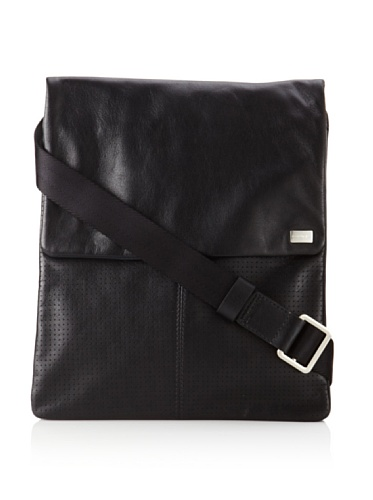 Cerruti Men's Austin Perforated Messenger Bag, Nero