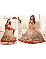 New Designer Beige and Red Anarkali Suit of Sayali Bhagat