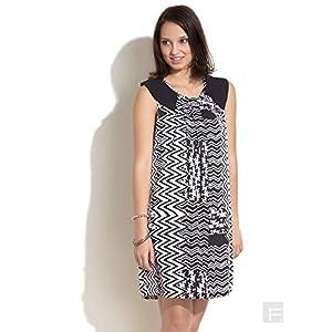 Remanika Monochrome Aztec Dress