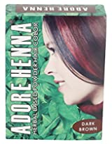 Adore Henna Hair Coloring Powder, Dark Brown, 60 g