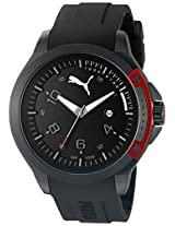 PUMA Unisex PU104011001 Pioneer black red Analog Display Watch