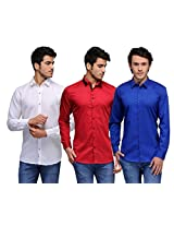 Feed Up Combo of 3 Men's Shirts 42