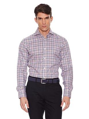 Hackett Camisa Cuadros (Morado / Beige)