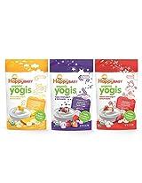 Organic Baby Food Happy Yogis Yogurt Snacks-Banana Mango, Mixed Berry, and Strawberry- 1 oz Packs, 3-Count