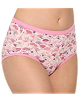 Hanes Women P188 Printed Hipster Panty Size: XL ( 105cm - 112cm) - Assorted Colours - Pack of 3