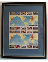 1941: A World at War - 1st. in Series of World War II Commemorative Stamp Pane - Framed