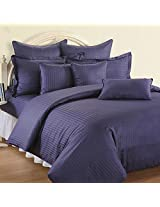 Swayam Double Bed Sheet with Two Pillow Covers - Indigo Jazz