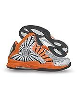 Nivia Phantom Basketball Shoes, Mens 8 UK (Silver/Orange/Grey)