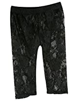 Stephan Baby Little Black Dress Collection Stretch Lace Legging-Style Diaper Cover, 6-12 Months
