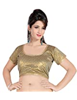 Khoobee Presenting Festive Special Art Silk Jacquard Stitched Blouse.(Beige)